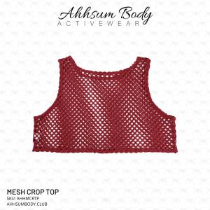 Ahhsum Body Activewear - Mesh Crop Top